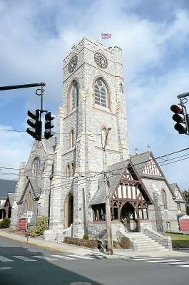 Trinity Episcopal Church hopes to finish the restoration of their clock tower this summer. (Kate Hartman/Register Citizen)