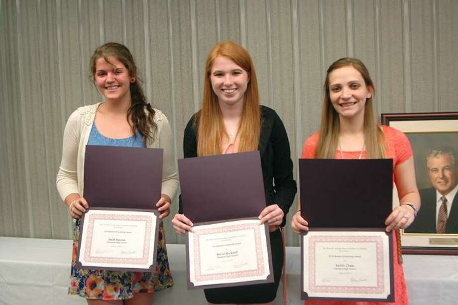 Photo Courtesy Madison-Oneida BOCES From left, Sarah Hannon, Rachel Rockwell and Kaitlin Chase.