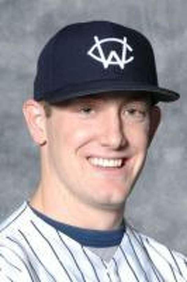 Western Connecticut State University pitcher/outfielder Conor Bierfeldt. Photo credit: Western Connecticut State University