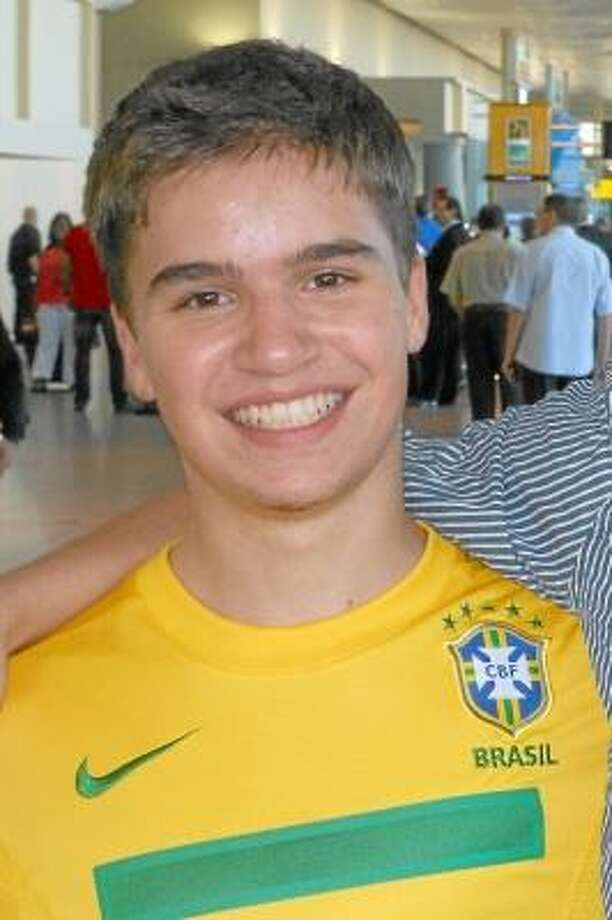 Contributed Photo Carl Costa, arriving home after 11 months away in Brazil.