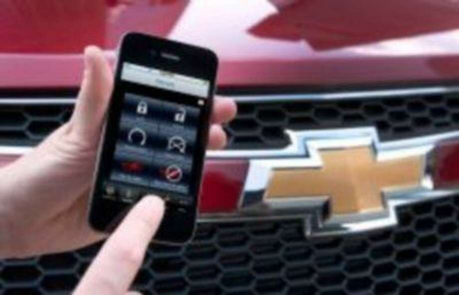 The OnStar RemoteLink Mobile App. With the app installed, a smartphone can lock and unlock car doors, sound the horn, turn on the lights and start the engine. (General Motors)