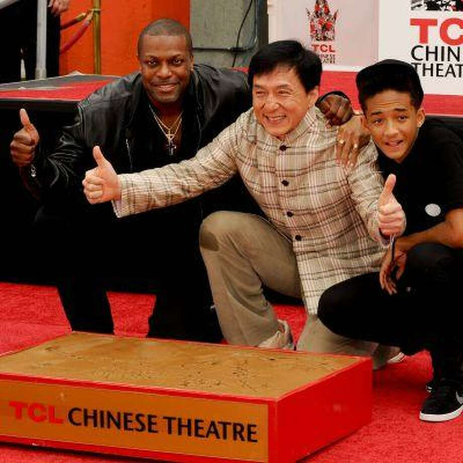 Jackie Chan is honoured with a hand and foot print ceremony at the TCL Chinese Theatre in Hollywood  Featuring: Chris Tucker,Jackie Chan,Jaden Smith Where: Hollywood, CA, United States When: 06 Jun 2013 Credit: Apega/WENN.com Photo: Apega/WENN.com / Apega/WENN.com