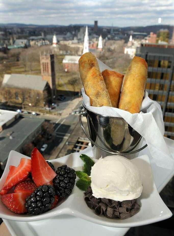 Fried cookie-dough spring rolls. John Davenport's Top of the Park restaurant. Mara Lavitt/New Haven Register3/26/13