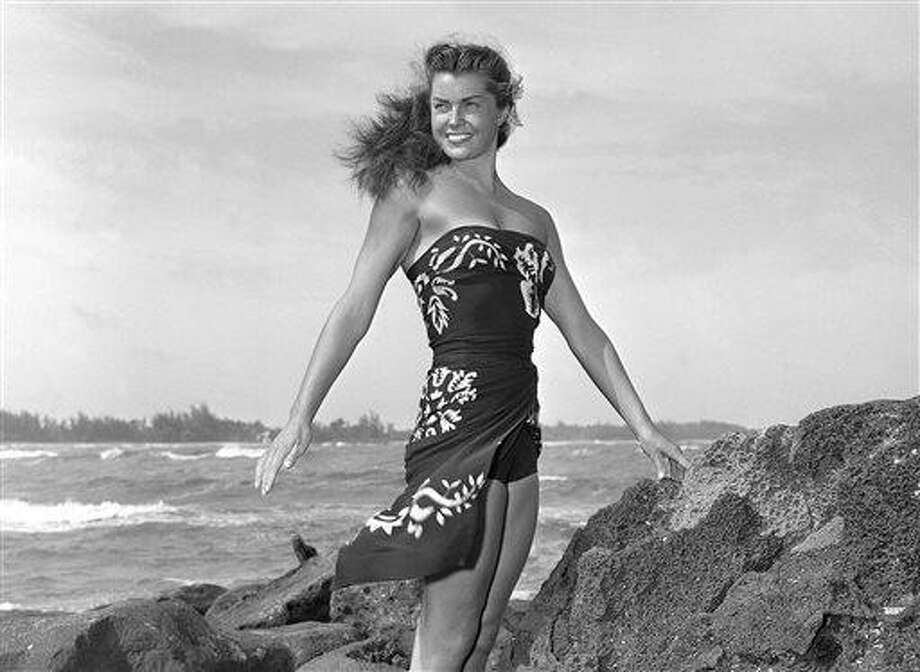 """FILE - This May 1950 file publicity photo originally released by Metro-Goldwyn-Mayer shows Esther Williams on location for the film """"Pagan Love Song. According to a press representative, Williams died in her sleep on Thursday, June 6, 2013, in Beverly Hills, Calif.  She was 91.  (AP Photo/Metro-Goldwyn-Mayer, file) Photo: ASSOCIATED PRESS / AP1950"""