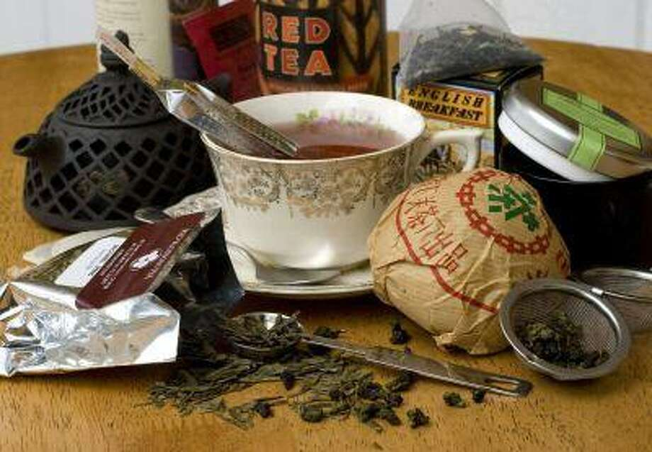 A variety of specialty teas are shown. Fueled by news of tea's health benefits and riding the coattails of the coffee industry, specialty teas have seen a rise in popularity. Photo: AP / AP