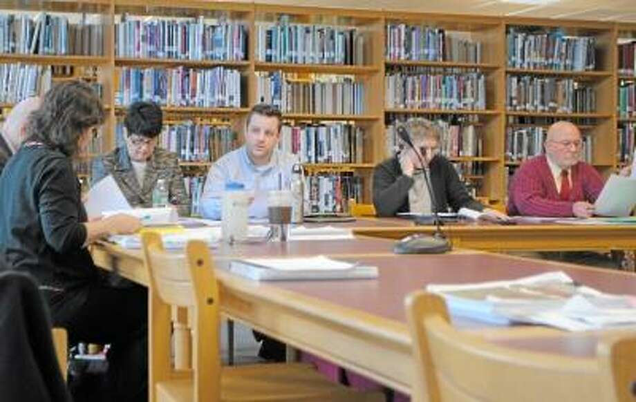 Members of the Torrington Board of Education discuss the district's bullying policy. -- Jessica Glenza/Register Citizen