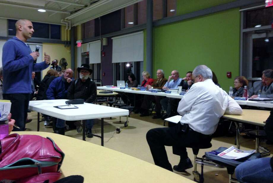 Steve Torino voices support for Fire Department equipment funding to the Town Council Tuesday night.