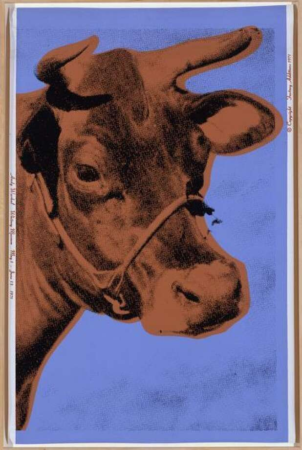 "Andy Warhol, American, 1928-1987. ""Cow,"" 1971; screen print on wallpaper, 45 1/2 x 29 7/8 in."