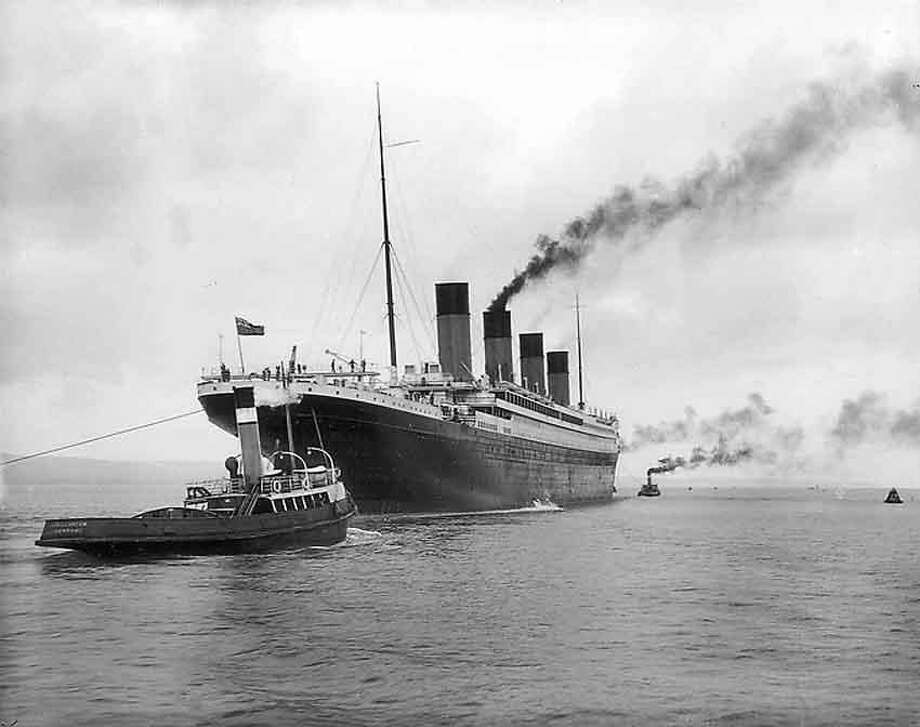 Titanic leaving Belfast for her sea trials on April 2, 1912.