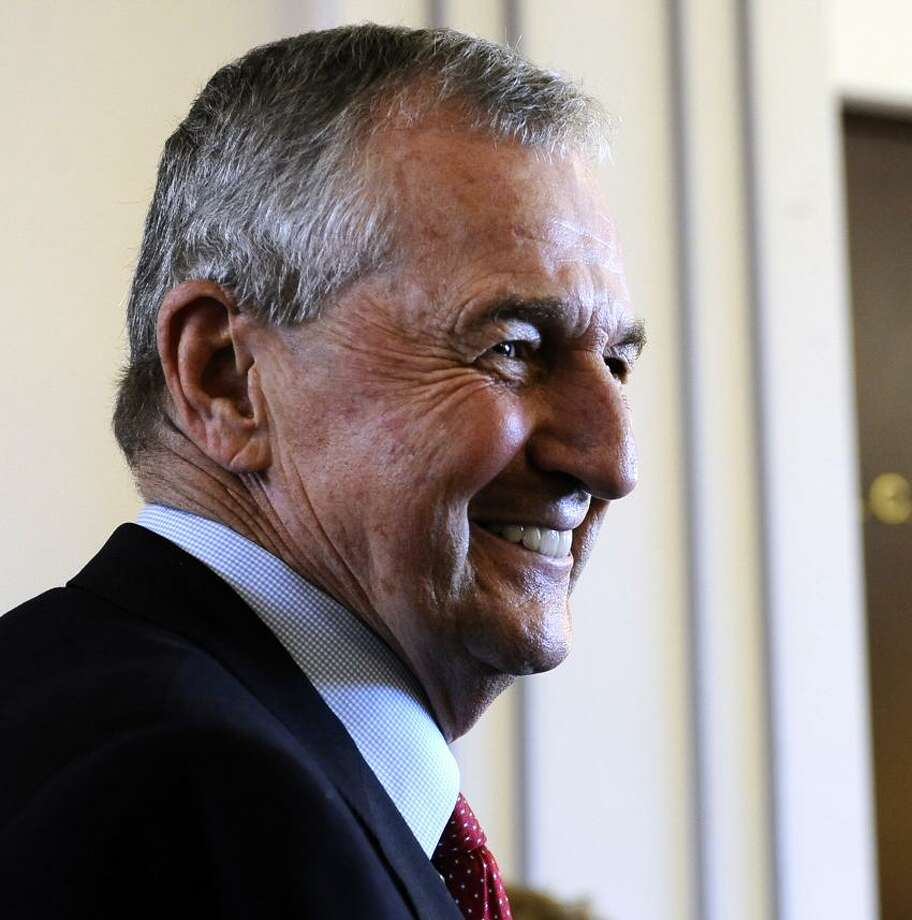 Former Connecticut men's head coach Jim Calhoun. (AP Photo/Jessica Hill) Photo: AP / A2013
