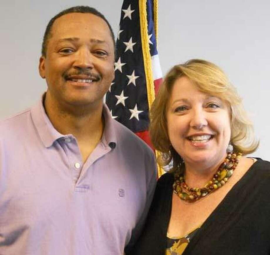 Allen Riley and Ann L. Jones  Photo courtesy Madison County Democratic Party