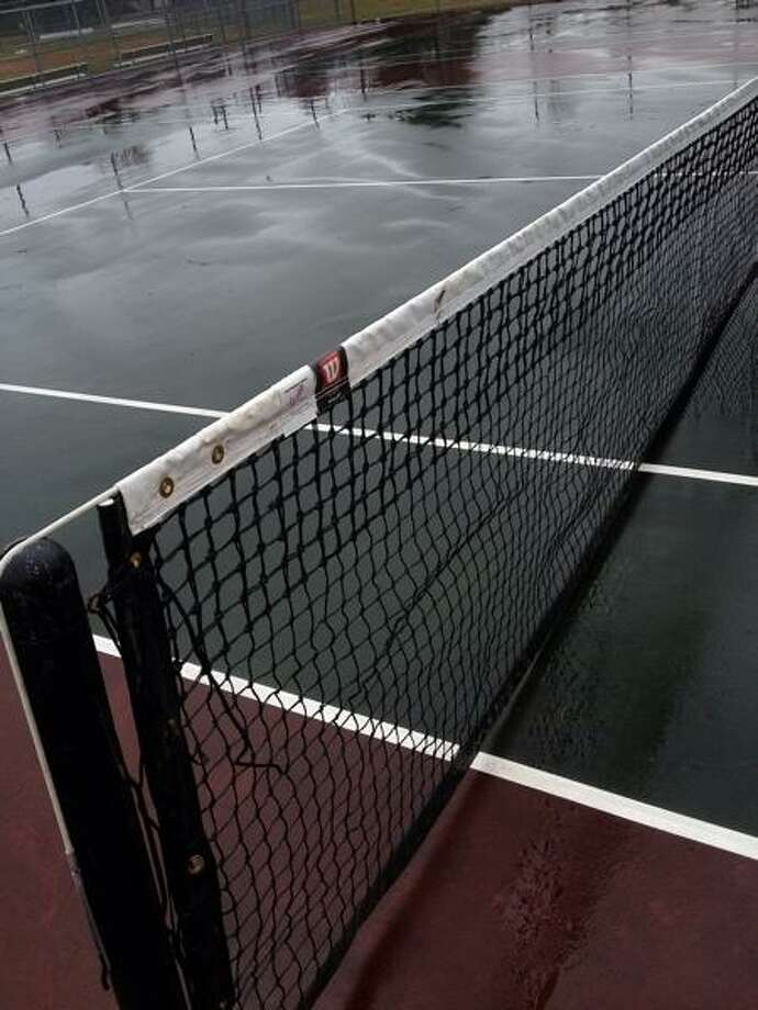John Haeger @OneidaPhoto on Twitter/Oneida Daily Dispatch Canastota tennis courts on Monday, April 1, 2013
