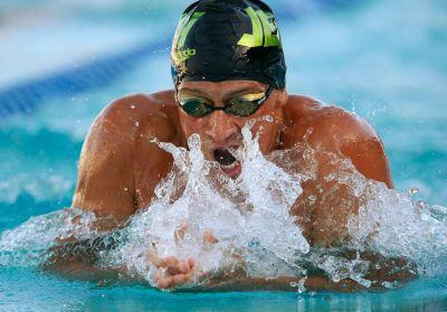 Ryan Lochte swims and wins the Men's 200 Meter IM at 1:58.07 for the Santa Clara Arena Grand Prix at the George F. Haines International Swim Center in Santa Clara, Calif., June 2, 2013. Photo: San Jose Mercury News / San Jose Mercury News