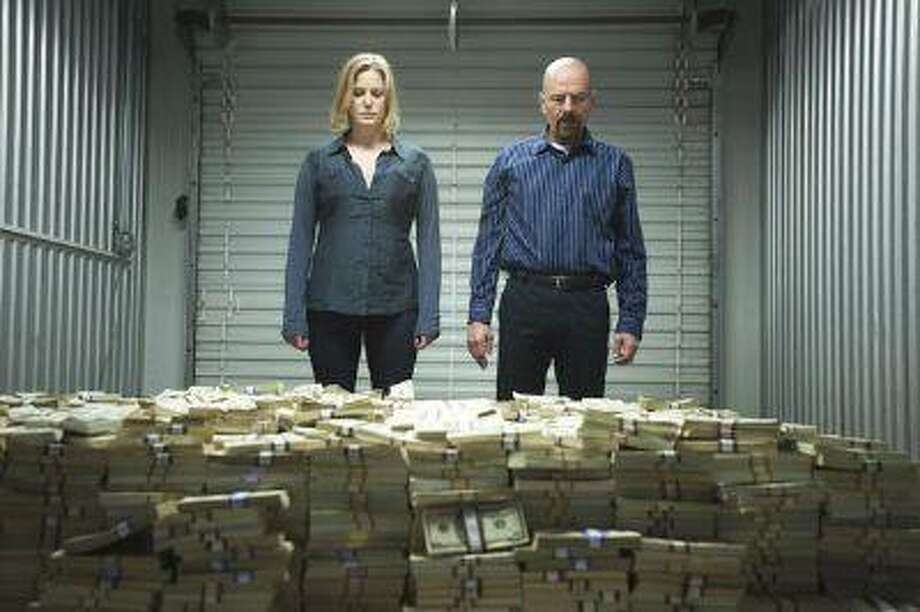 "Skyler White (Anna Gunn) and Walter White (Bryan Cranston) - Breaking Bad_Season 5, Episode 8_""Gliding Over All"" - Photo Credit: Lewis Jacobs/AMC Photo: POST_UPLOAD / The Denver Post"
