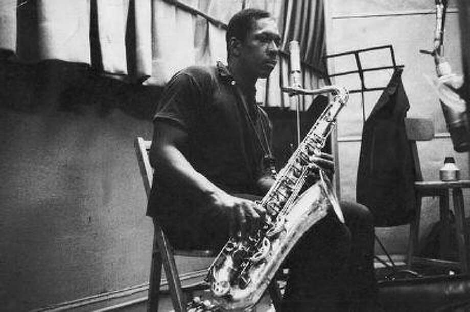 (NYT18) UNDATED -- Oct. 10, 2005 -- COLTRANE-LEGACY -- John Coltrane during a recording session in an undated photo. On Tuesday, Oct. 11, 2005, Verve will issue a recently unearthed recording of the John Coltrane Quartet at the Half Note club in 1965. (Atlantic Records via The New York Times) Photo: NYT / ATLANTIC RECORDS