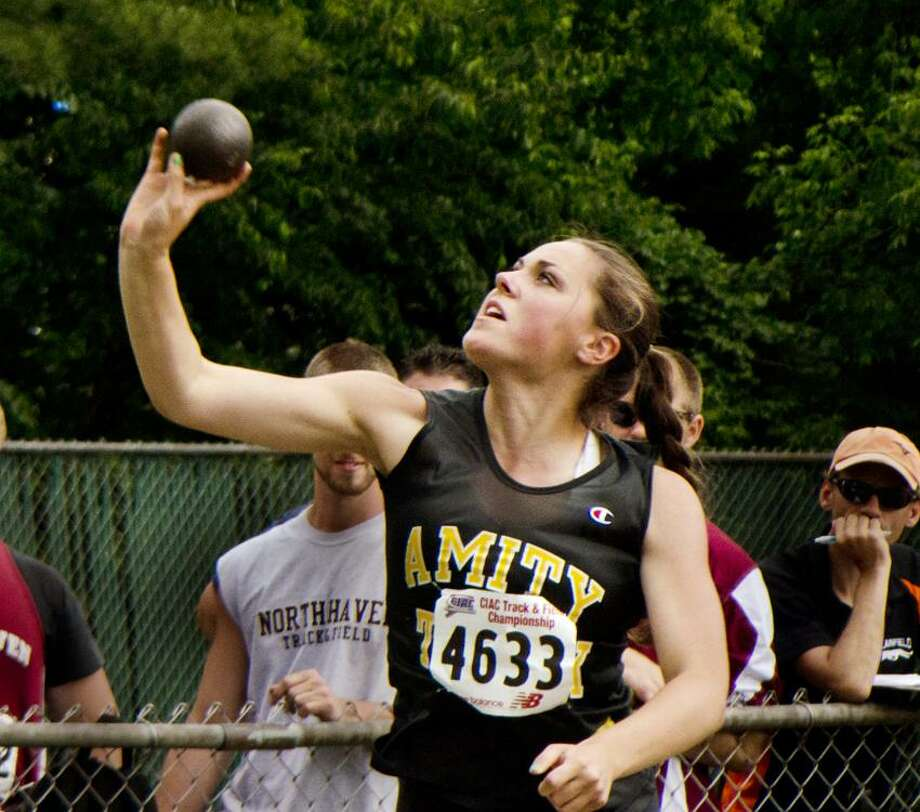 State Open-Katherine Simon, of Amity,  came in 2nd in Shot Put.   Melanie Stengel/Register