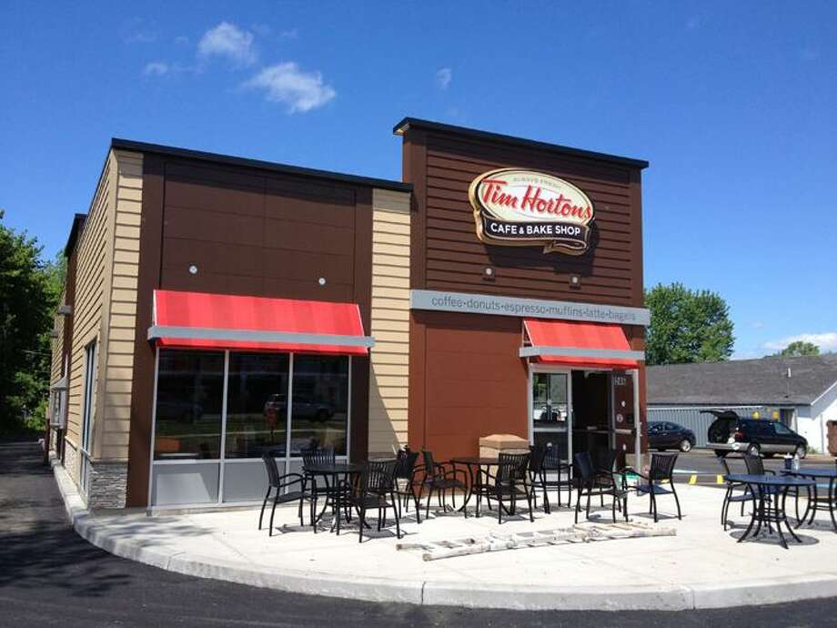 Jolene Cleaver/Oneida Daily Dispatch Tim Hortons Cafe & Bake Shop on Route 5 in Oneida is set to open Wednesday.