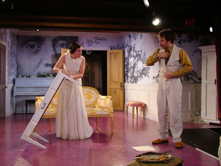 "Contributed photo: Michelle McGregor (Elmire) and Chris Bannow (Orgon) in ""Tartuffe"" at Yale Summer Cabaret."