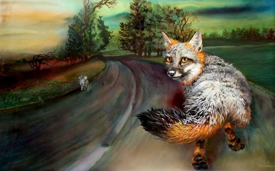 "Courtesy of the artist: Robert Sauber's prize-winning ""Fox."""