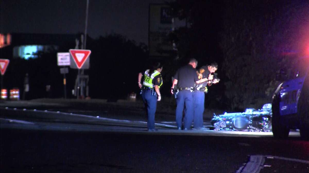 Paramedics responded to the scene of the crash around 2:45 a.m. in the 8200 block of Interstate 35 in the southbound lanes, where they found the motorcyclist critically injured, but still alive. He later died at a hospital.
