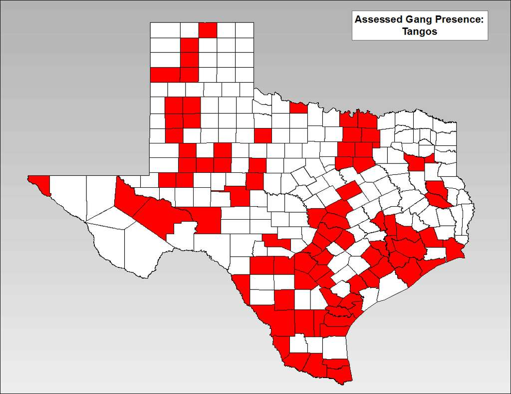 Map Where Texas Most Significant Gangs Criminal Groups Are - M13 gang us map