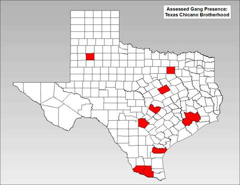 Houston Gang Map Where Texas' most significant gangs, criminal groups are   Houston