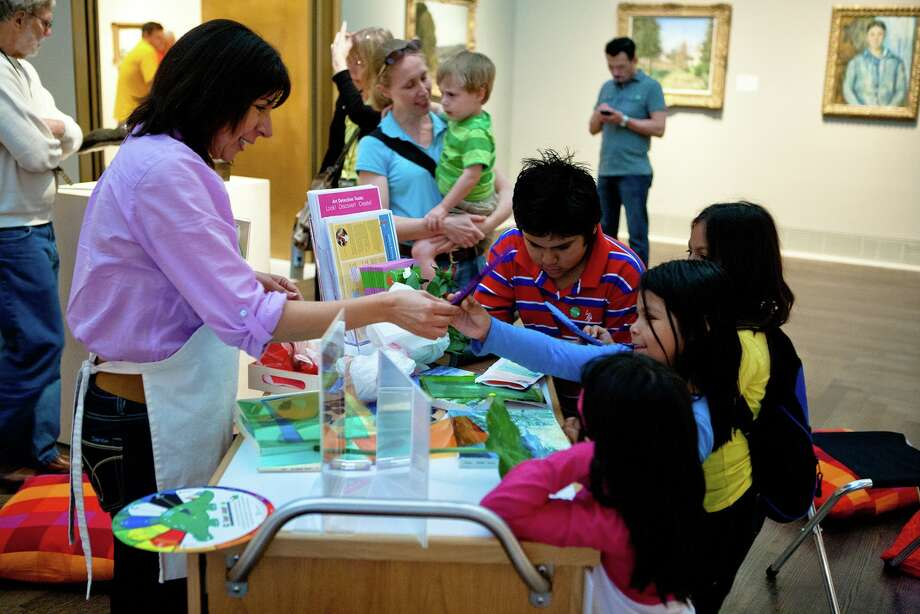 Sunday Family Zone at the Museum of Fine Arts, Houston offers crafting activities fit for the entire family. Photo: Sunday Family Zone At The Museum Of Fine Arts, Houston / Leroy Gibbins