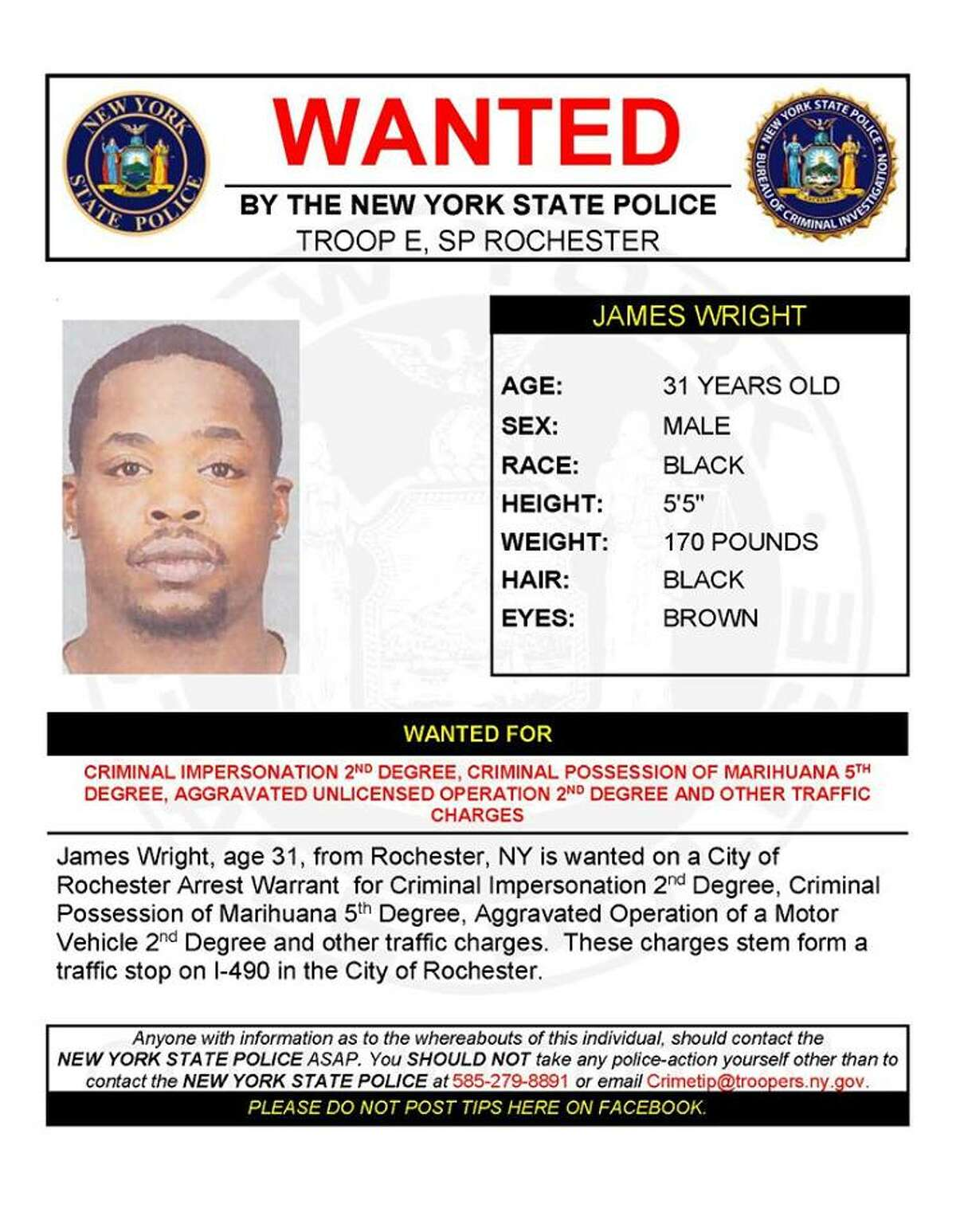 James Wright, 31. (State Police)