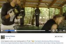 Echols Fitness shared a video on Wednesday, showing Duncan wearing Punisher gear and sparring with the coach.