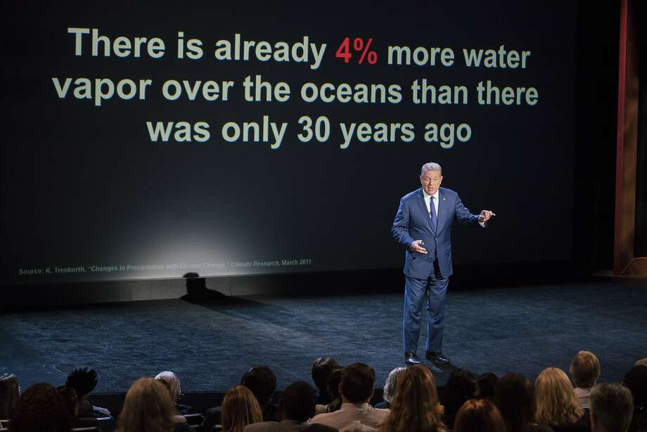 """Al Gore, a co-recipient of the 2007 Nobel Peace Prize for his work on climate change, appears in """"An Inconvenient Sequel: Truth to Power."""" Photo: Jensen Walker, Associated Press"""