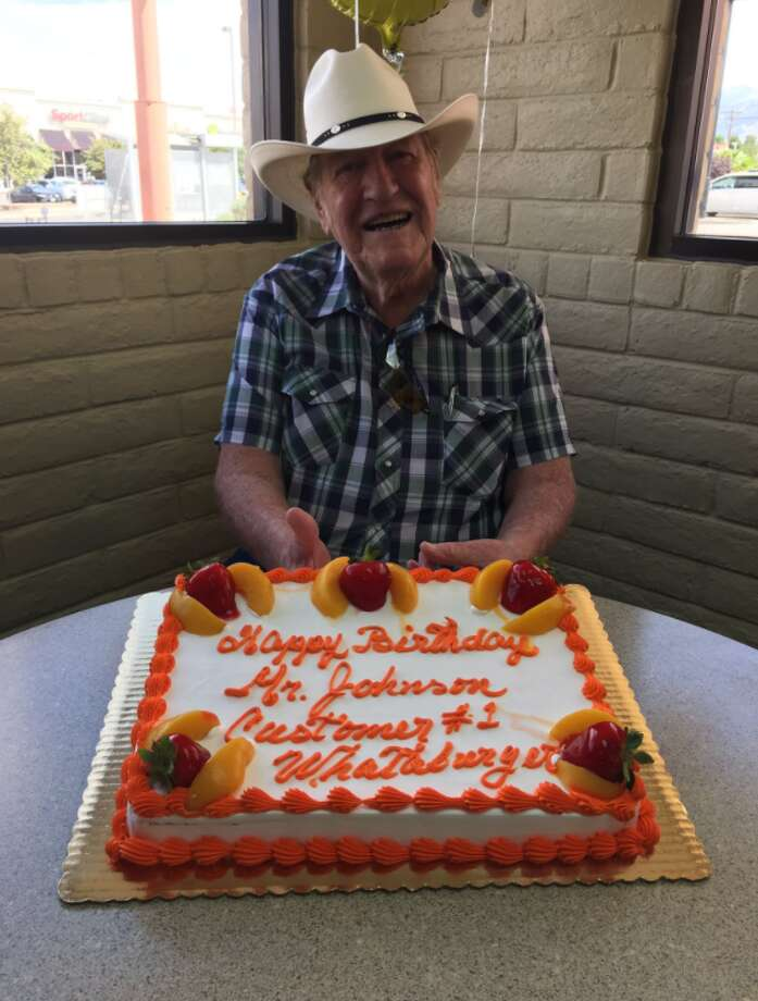 Whataburger helped turn Ed Johnson's 80th birthday into a unforgettable event. Photo: Emma Carr