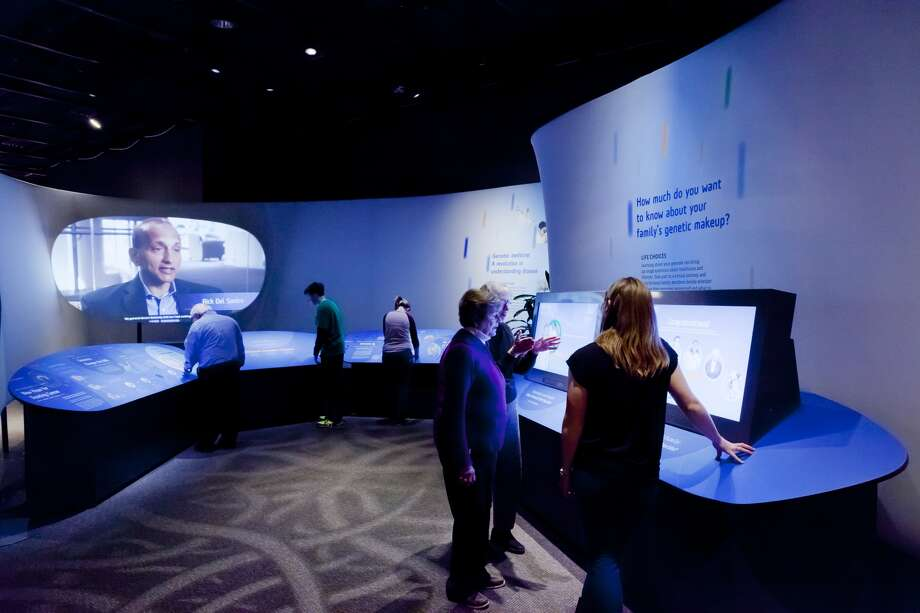 "A view of ""Genome: Unlocking the Code"" at the Health Museum."