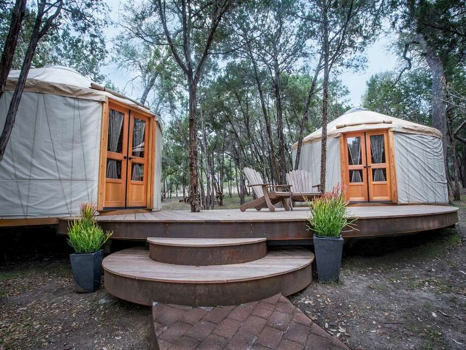 Hill Country Home YurtsAverage per night: $560Sleeps: 10These yurts are on a unique, gated Texas ranch near Lakeway, Texas. They include the rental of the property's main house. Photo: HomeAway