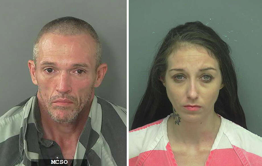 Keith Brooks, 45, of New Caney, and Stormie White-Rivers, 30, of Houston, were charged with dealing methamphetamine after a July 15, 2017 traffic stop in Porter. Photo: Montgomery County Jail