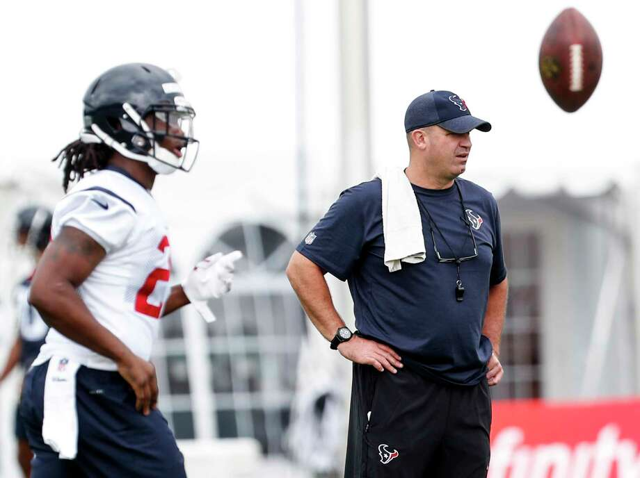 Houston Texans head coach Bill O'Brien watches the first practice of training camp at the Greenbrier on Wednesday, July 26, 2017, in White Sulphur Springs, W.Va. Photo: Brett Coomer, Houston Chronicle / © 2017 Houston Chronicle}
