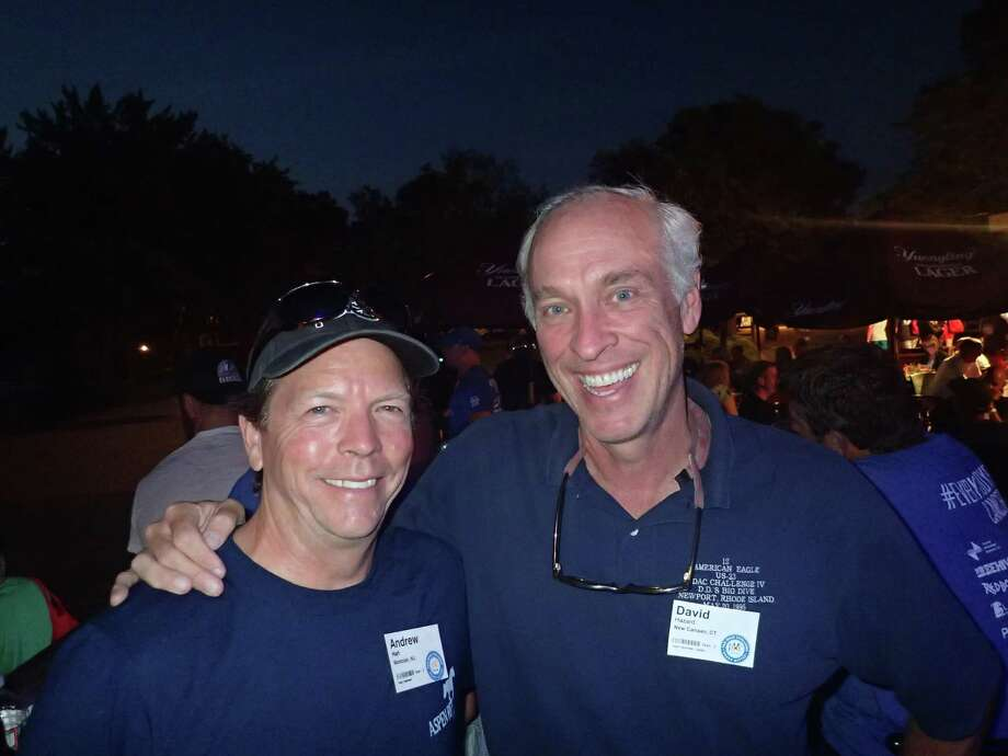 Team co-founders/co-captains of Team Velominati Andy Hart and David Hazard. Also college classmates 1980 Ohio-Wesleyan University. Photo: Contributed Photo / New Canaan News contributed