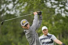 Midland High's Mason Frost competes in the Junior City Golf Championship on Wednesday, July 26, 2017 at Currie Golf Course.