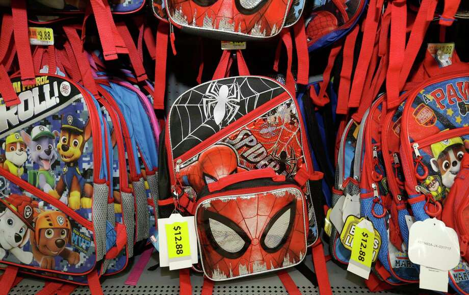 Backpacks are one of the back to school items that's eligible for tax exemption during the sales tax holiday in Texas, scheduled for Aug. 11 to 13.Keep clicking to see what else is tax exempt for the weekend.   Photo: Melissa Phillip, Staff / © 2017 Houston Chronicle