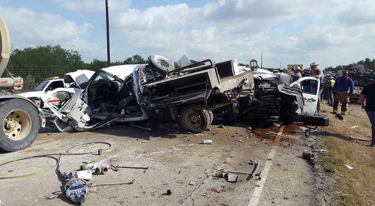 Photos of the three-car pileup that happened just before 8 a.m. on Tuesday in La Salle County.