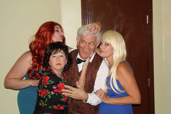 """Performers in the Aug. 4 show of """"Who's in Bed with the Butler?"""" including Amy Morneau, left, Kathy Edge,  Steve Forgus and Stefanie Sheidy, will have the playwright in the audience. The author, Michael Parker, will join the cast to meet audience members after the performance."""