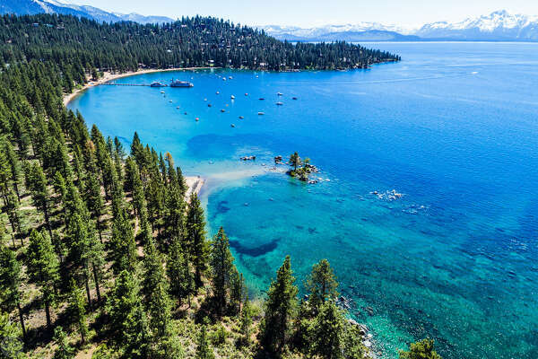 Professional photographer  Brian Walker  took this image of Lake Tahoe's crystal clear waters in July 2017.