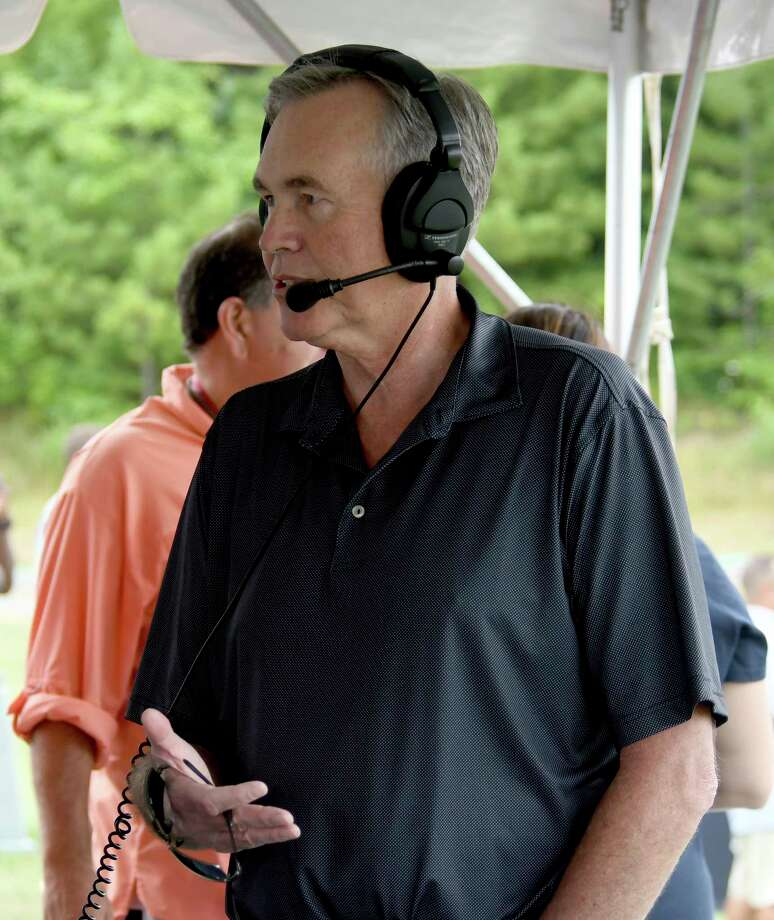 Houston Rockets Head Coach Mike D'Antoi talks with media during the Houston Texans NFL football teams training camp in White Sulphur Springs, W.Va., Wednesday, July 26, 2017. (AP Photo/Chris Tilley) Photo: Chris Tilley, Associated Press / FR171192 AP