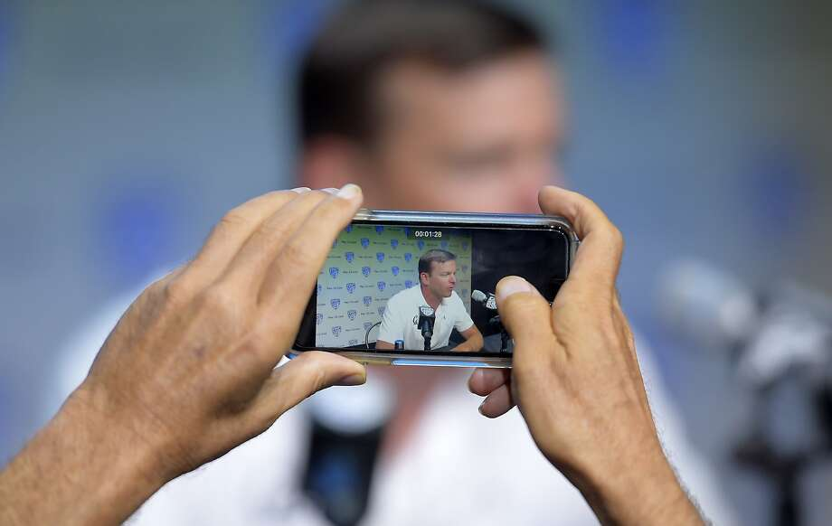 Cal head coach Justin Wilcox says social media can tell you a lot about what a player is really like. Photo: Mark J. Terrill, Associated Press