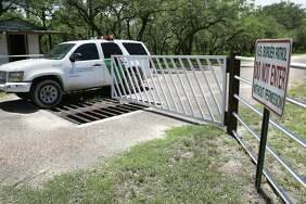 A Border Patrol unit from U.S. Customs and Border Protection leaves a private ranch south of Falfurrias earlier this summer. A Border Patrol agent was killed on Sunday and another injured.