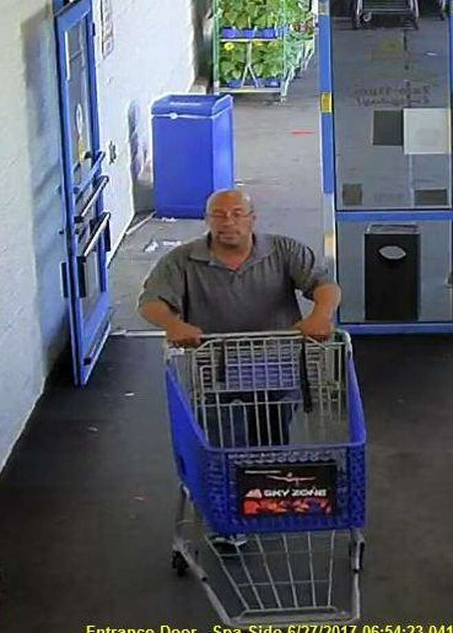 Police are looking for this man who walked out of Shop Rite without paying for $1,245 in steak and shrimp. Anyone who recognizes him is asked to call 203 977-4407. Photo: Stamford Police / Contributed