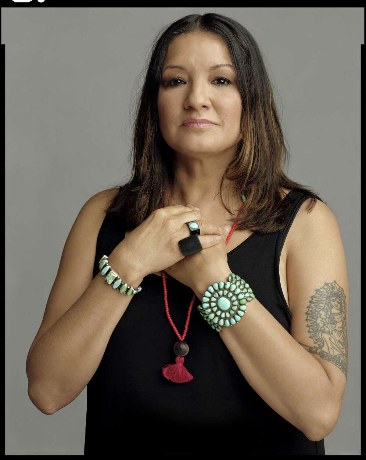 A portrait of author Sandra Cisneros is one of the images in photographer Timothy Greenfield-Sanders'