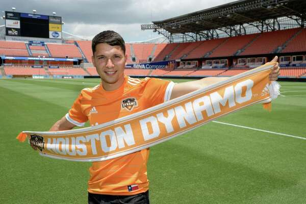 Dynamo newcomer Tomas Martinez at BBVA Compass Stadium.