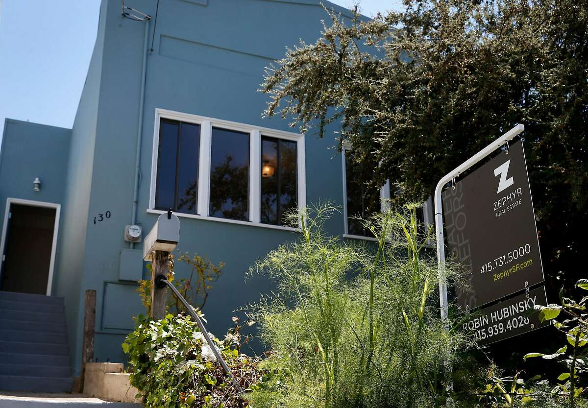 A single-family home is offered for sale on Trumbull Street in the Excelsior district in San Francisco, Calif. on Tuesday, July 25, 2017.