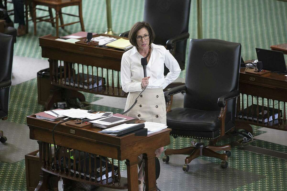 State Sen. Lois Kolkhorst, R-Brenham, discusses details of Senate Bill 3, a