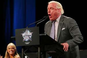 """NEW YORK - MARCH 31:  Ric """"Nature Boy"""" Flair attend the WrestleMania 25th anniversary press conference at the Hard Rock Caf? on March 31, 2009 in New York City.  (Photo by Andrew H. Walker/Getty Images)"""